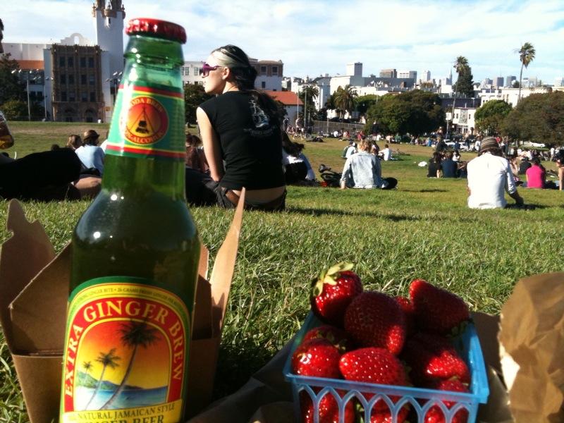 Mission Dolores Park picnic