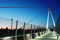 CUPERTINO Ca. 8-2009 (the phunktOGraphist) Tags: bridge bridges southbay blueskys cupertinoca walkingbridges bayareabridges californiabridges maryavebridge