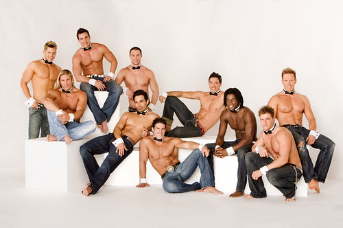 10. Chippendales dancers! Bonus accessories: Pectorals.