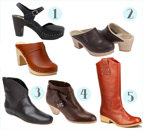 fall clog & boot round-up