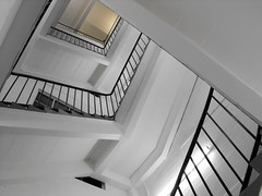 White stairs (shotlandka) Tags: light white stairs square glasgow steps perspective staircase finepix fujifilm banister     platinumheartaward s1000fd 100commentgroup