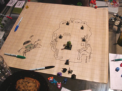 D&D: Us vs. Elemental Apparatus (Futuregirl_LeahRiley) Tags: grid drawing dragons figurines rpg dd dungeonsdragons tabletop apparatus minis dungeons dnd elemental 4thedition erasable