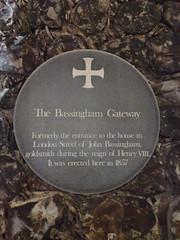 Photo of John Bassingham grey plaque