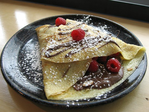 Nutella, Raspberry & Almond Crepe -- coffee breakfast bradburys crepes ...