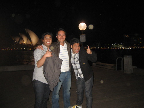In front of the Opera House with Jeff and Chris