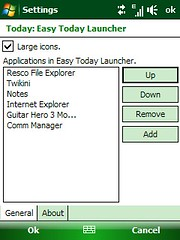 Easy Today Launcher - Settings
