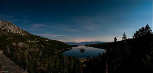 Emerald Bay by night
