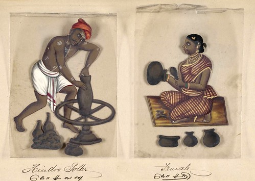 018- Alfarero hindú y su mujer-Seventy two specimens of castes in India 1837