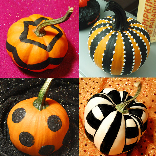 Small Pumpkin Decorations: Trick Or Treat, Witches And Pumpkins