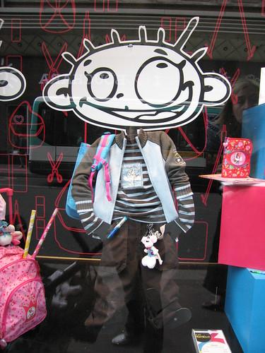 vitrine rentrée des classes- galeries lafayette - 2007