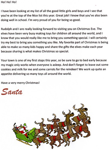 free santa letters