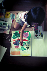 sabi-85 (SABITERU) Tags: art japan kids children eos kid artist child picture   osaka
