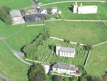 Overhead view of Bewcastle