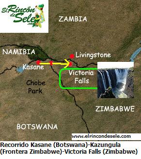 Mapa Kasane-Vic Falls por ti.