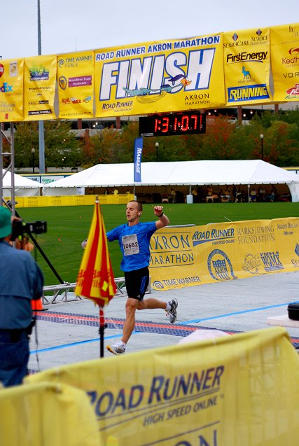 josh at the finish line