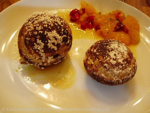 Brunklüten und Marokkanischer Orangensalat mit Granatapfel