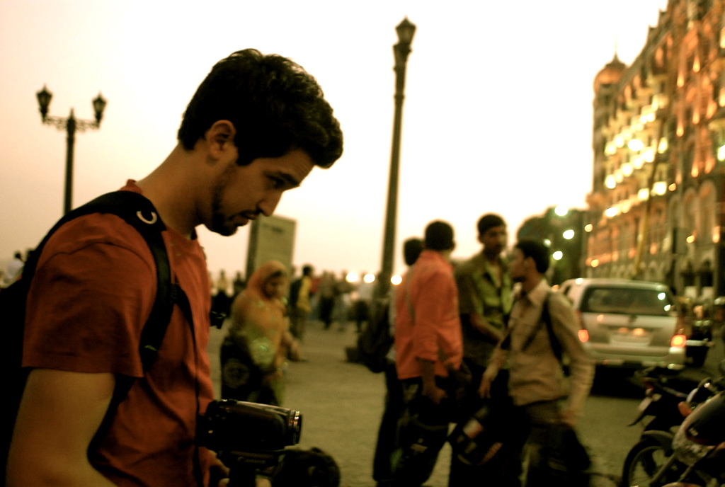 Eric Filming The Taj Hotel