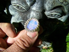 Kore's ring of Shadows (leespicedragon) Tags: original moon art silver shadows handmade oneofakind ooak magic jewelry ring pentagram spiritual magical opal pentacle kore marvinleebillings