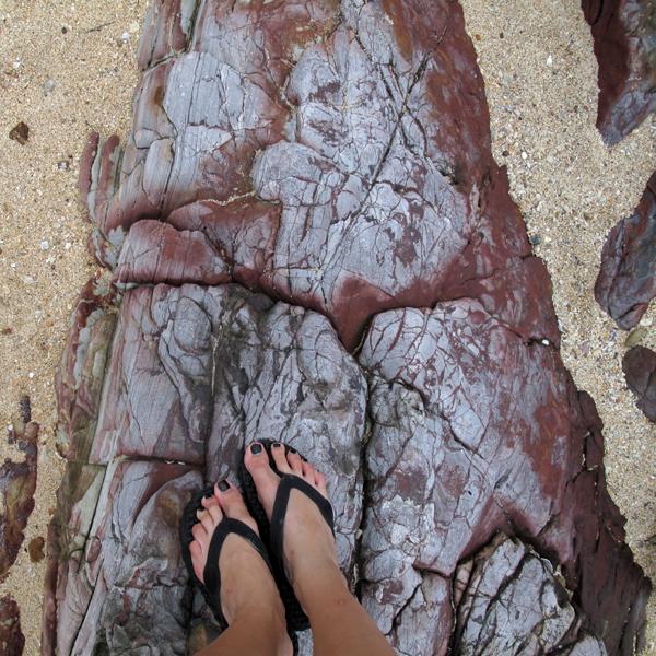 Rocky part of Klong Dao