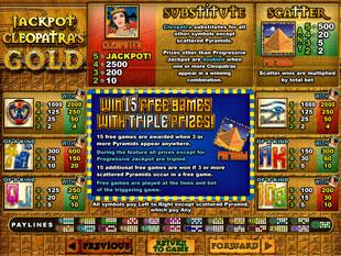 free Jackpot Cleopatra's Gold slot mini symbol