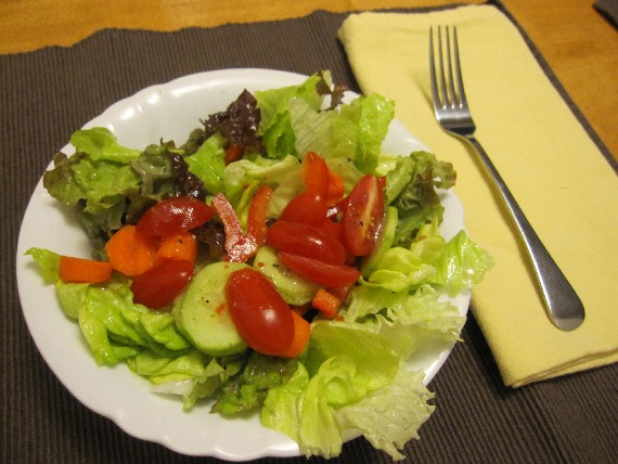 With Salad