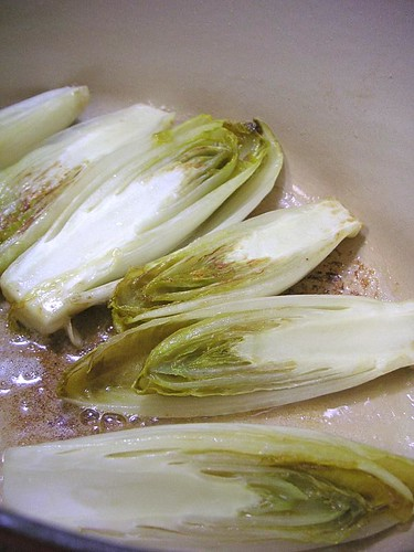 Braised Belgian Endive with Balsamic Vinegar