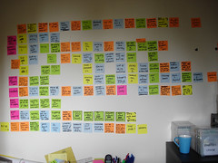Film structure in post-it notes - later days