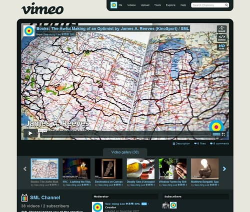 Video Social Networks: SML Channel on Vimeo / 2009-11-22 / SML Screenshots (by See-ming Lee 李思明 SML)
