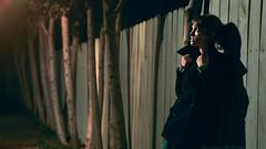 325/365 November 21, 2009 (laurenlemon) Tags: portrait night interestingness shadows widescreen 365 peacoat 365days explored canoneos5dmarkii november09 laurenrandolph laurenlemon insomestraaaangebackyard