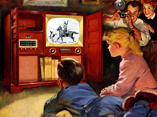 1953 - tv kids, snapshot by x-ray delta one, on Flickr