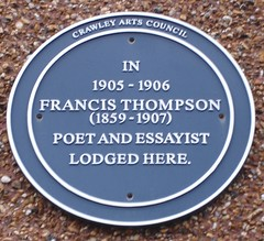 Photo of Francis Thompson blue plaque