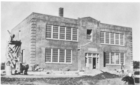 Construction of St John School in Seward Nebraska in 1929