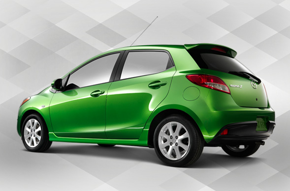 Mazda2 green color