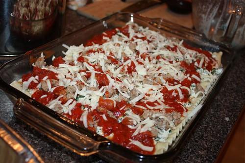 Sausage and Spinach Lasagna
