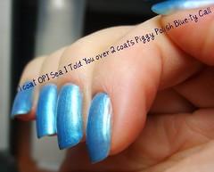OPI Sea I Told You / PP Blue-ty Call (ballekarina) Tags: blue nailpolish