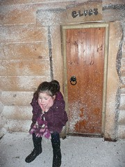 Where have all the elves gone? (felicityfaery) Tags: christmas door snow girl pose child noel elf lapland yule grumpy elves