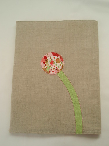 Flower on back of cover