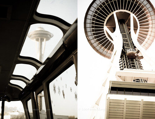 space needle from the monorail