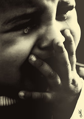 Pain .., ~ I wanna Cry so deep...! (Ruaa AlAbdulRahman) Tags: baby white black pain crying deep cry ~ wanna i
