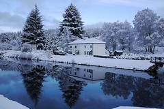 Caledonian Canal, Scotland (BrianReid) Tags: winter snow lumix scotland canal fort lock panasonic pancake 20mm augustus caledonian f17 gf1 cullochy