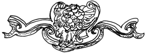 English Rococo Motif Sketch