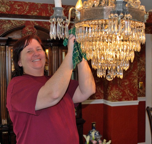 Cleaning the Chandelier