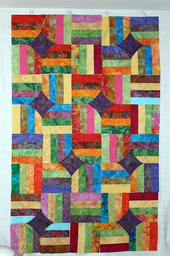 Batik Not Quite 10 minute Block Quilt