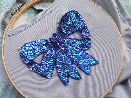 Blue bow vest
