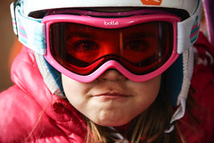 This Girl Can (Neil R Meninick) Tags: ski girl niece gameface helmet goggles bolle skikit winter sport bulgaria pink fun eyes portrait face visage