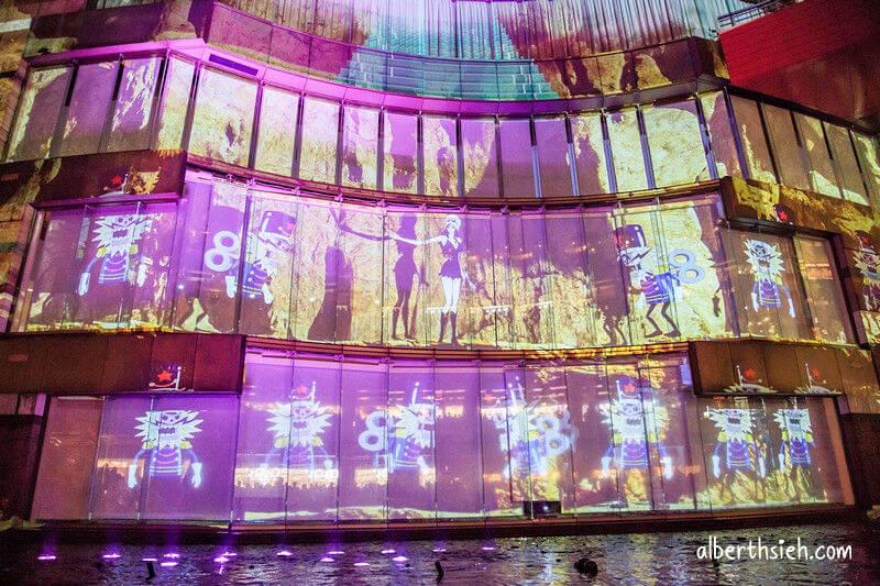 博多運河城.航海王3D光雕投影噴水秀