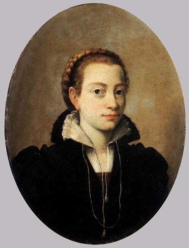 Bernardino Campi Painting Sofonisba Anguissola. Portrait of Minerva Anguissola