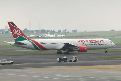 Kenya Airways 767-300 5Y-KQP