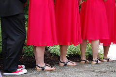 the bridesmaids (ericap1) Tags: wedding red black feet shoes converse bridesmaid chucks photoshopelements