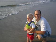 Noah and daddy at Fernandina